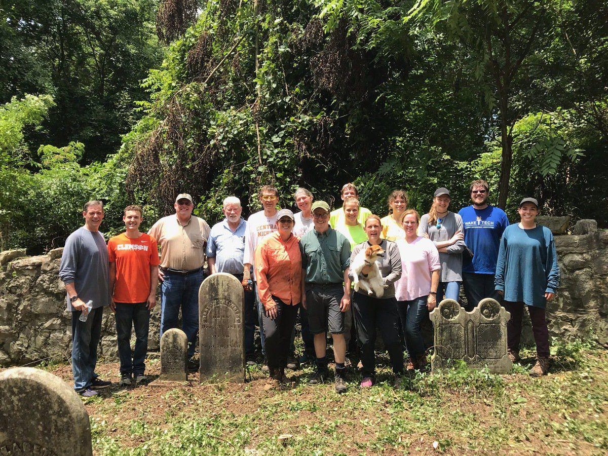 Family reunion includes journey to clean up local rural cemetery