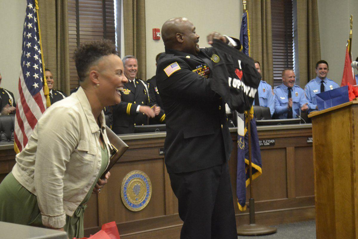 City says farewell to fire chief Montgomery says 'I am Hopkinsville'