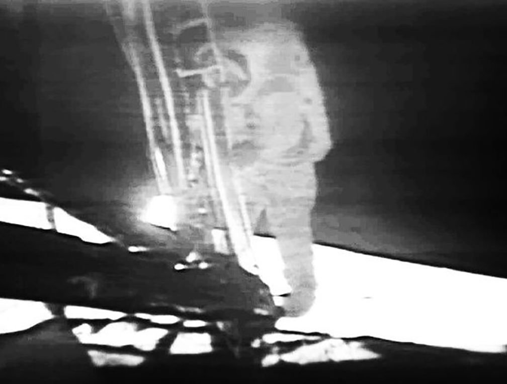 Image result for apollo 11 first step