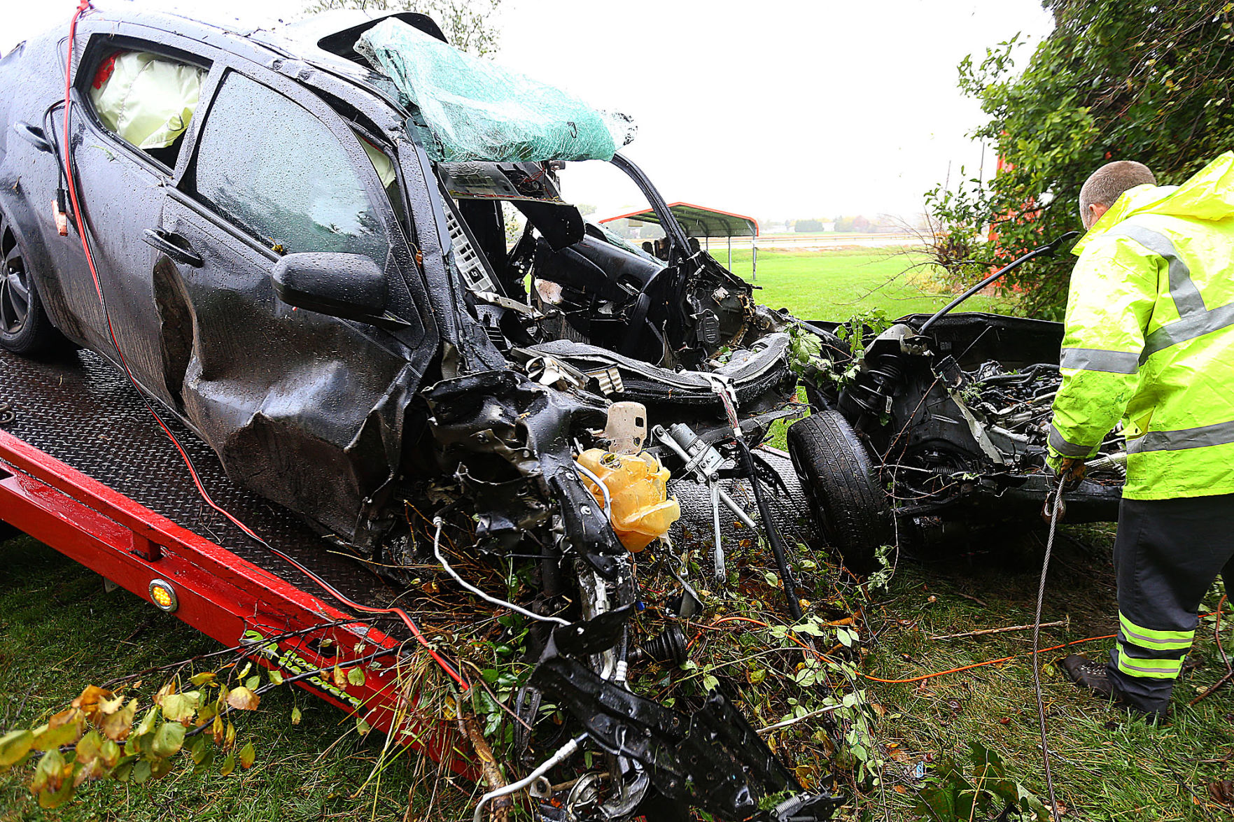 Police Person Fatally Injured During Single Vehicle Crash News
