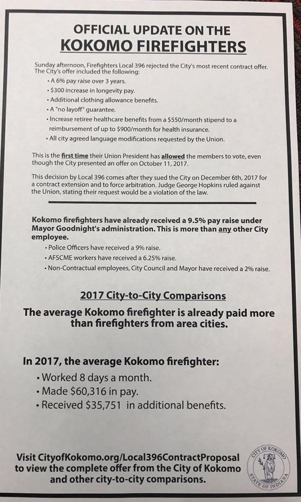 Fire Union Membership Ratifies Contract Local News Kokomotribune