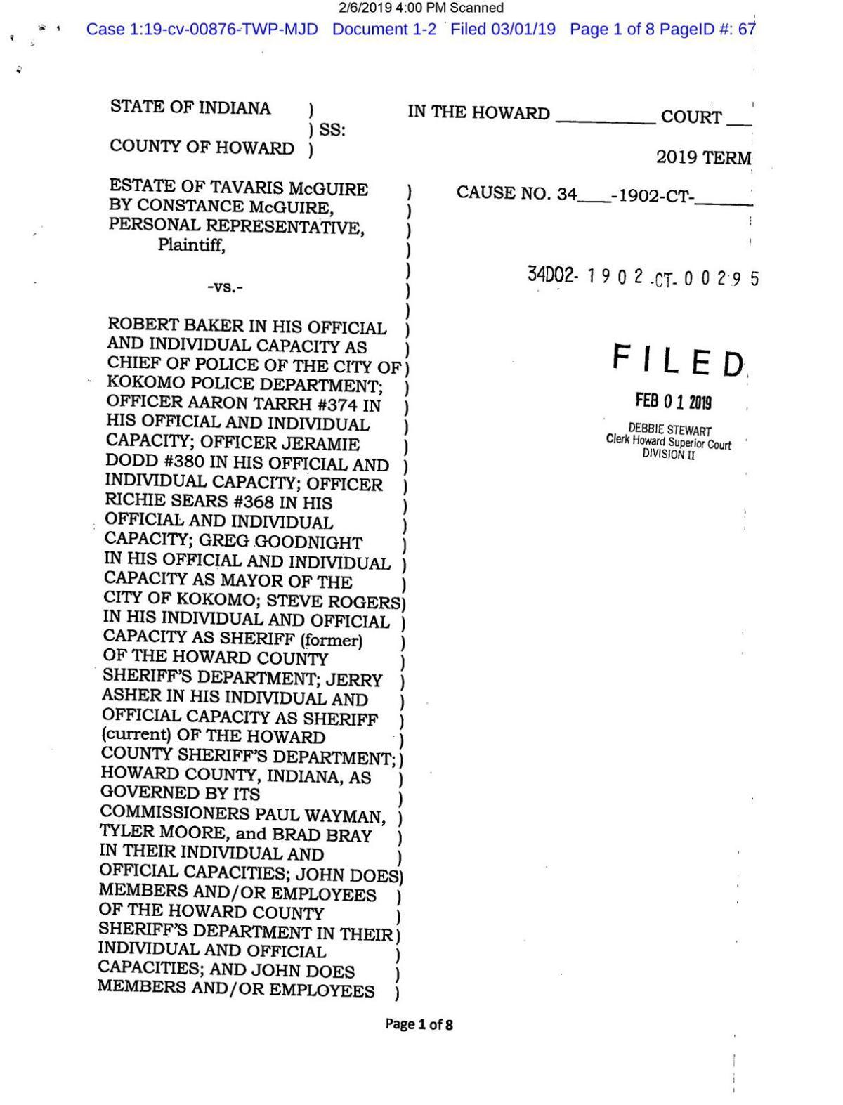 Tavaris McGuire lawsuit