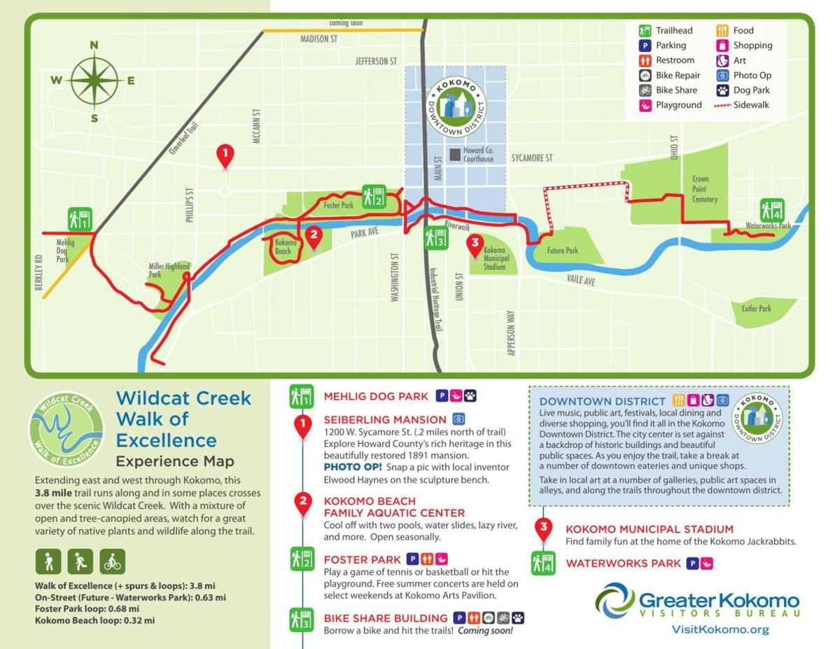 Walk of Excellence map