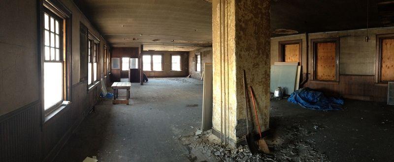 Train depot interior