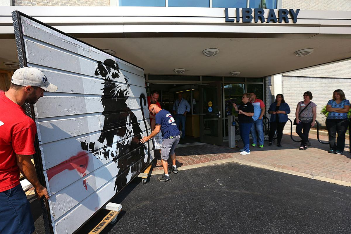 Another kokomo first banksy artwork owner arrive at for Howard county craft fair