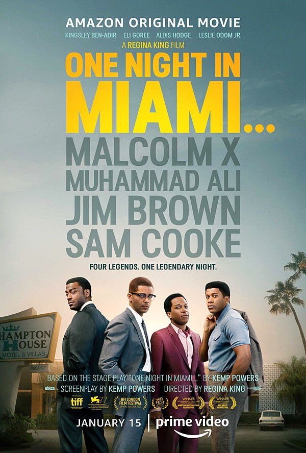 """One Night in Miami"" movie poster"