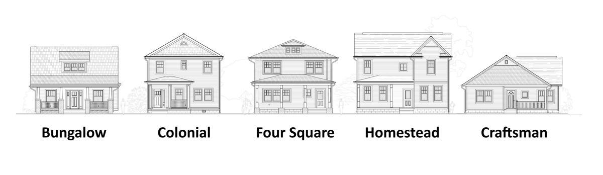 Urban infill home designs