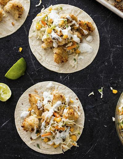 Food Column ATK Baja Style Cauliflower Tacos