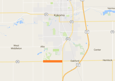 INDOT: Indiana 26 paving project to start in May | Local ... on ahtd road conditions map, txdot road conditions map, wydot road conditions map, idot road conditions map, weather road map, toll road map, kdot road conditions map, arizona state highway road map, road closure map, modot road conditions map, cdot road conditions map, indiana road map, mdt road conditions map,