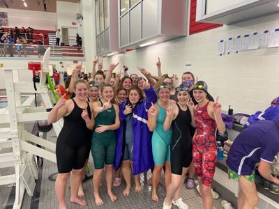 NW girls swimming