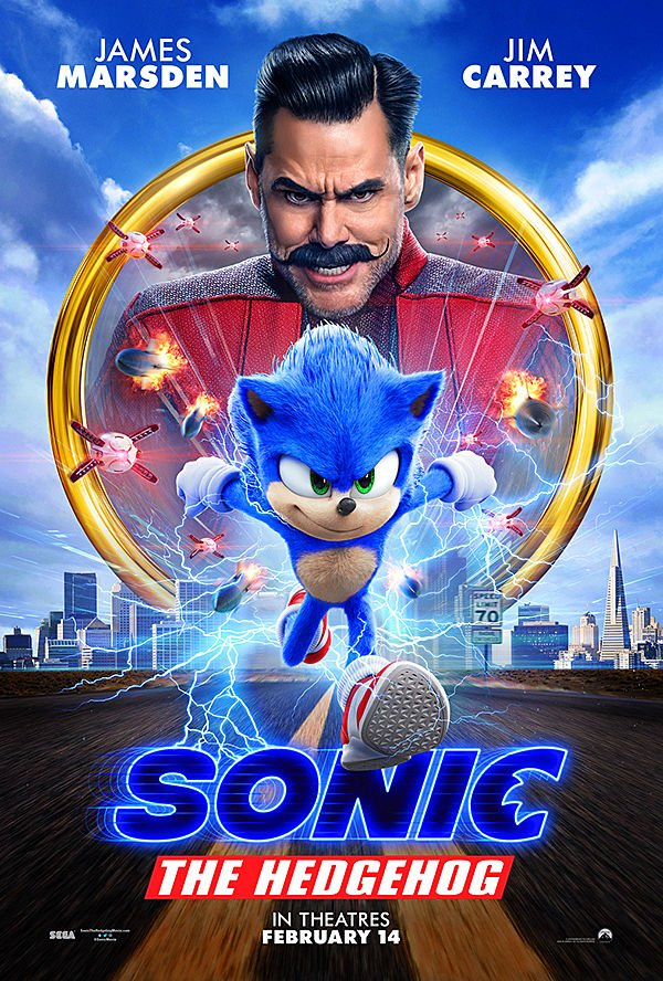 """Sonic the Hedgehog"" movie poster"