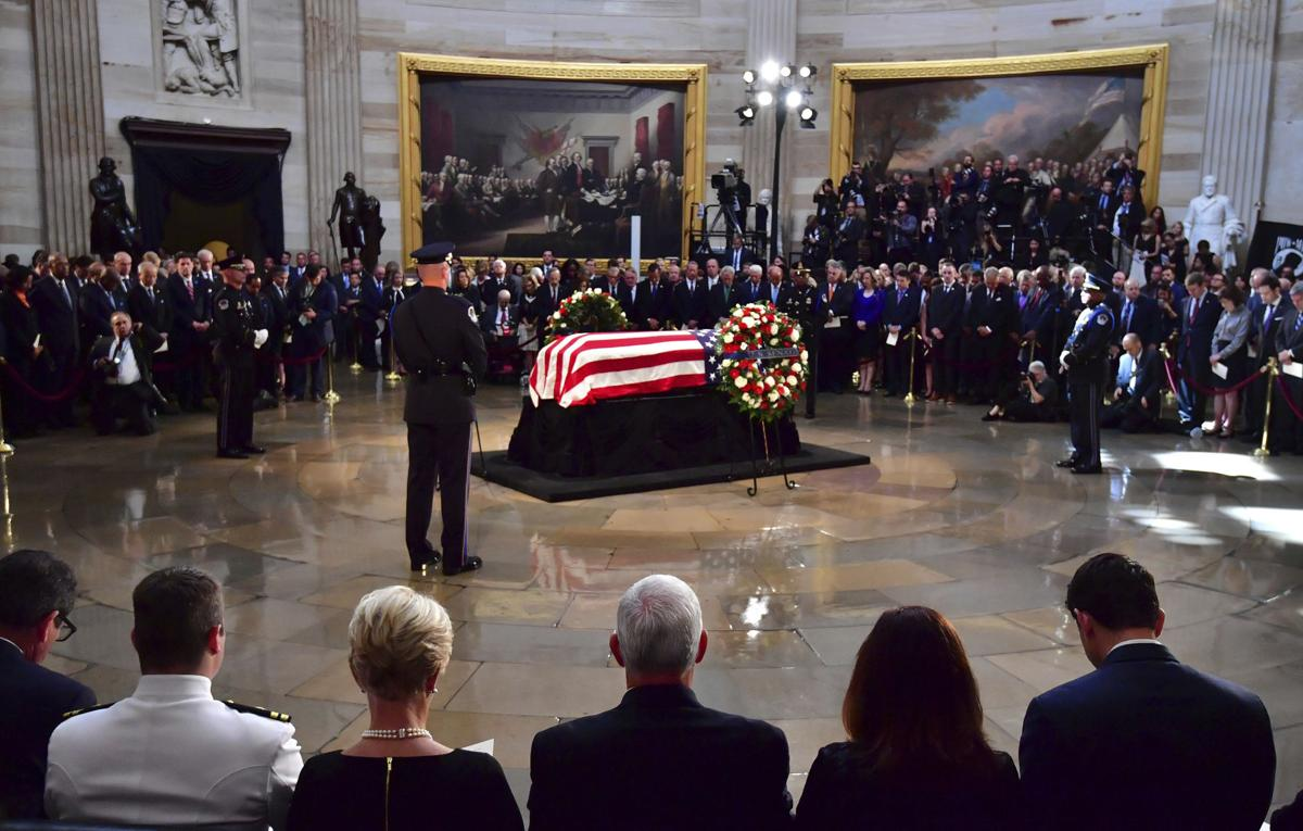 Image result for Senator John McCain coffin in US Capitol
