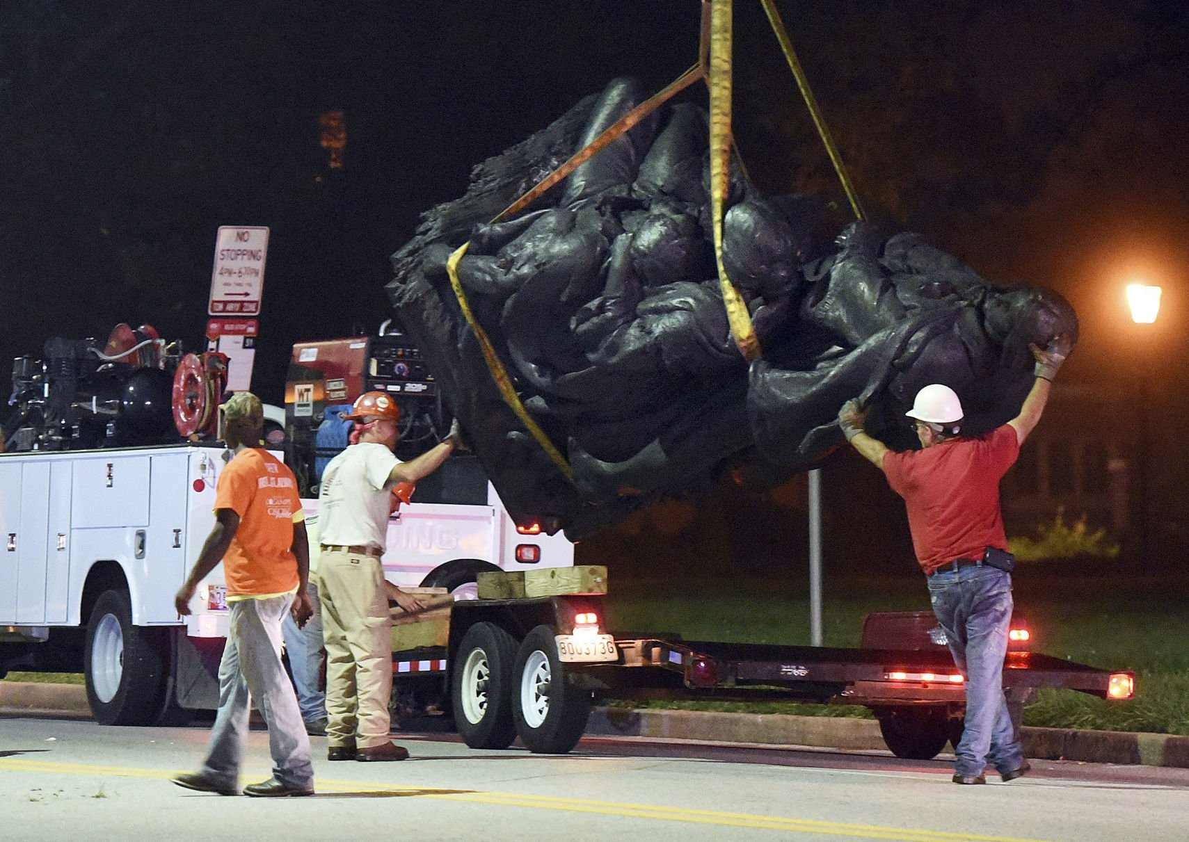 Confederate statues in Baltimore taken down overnight