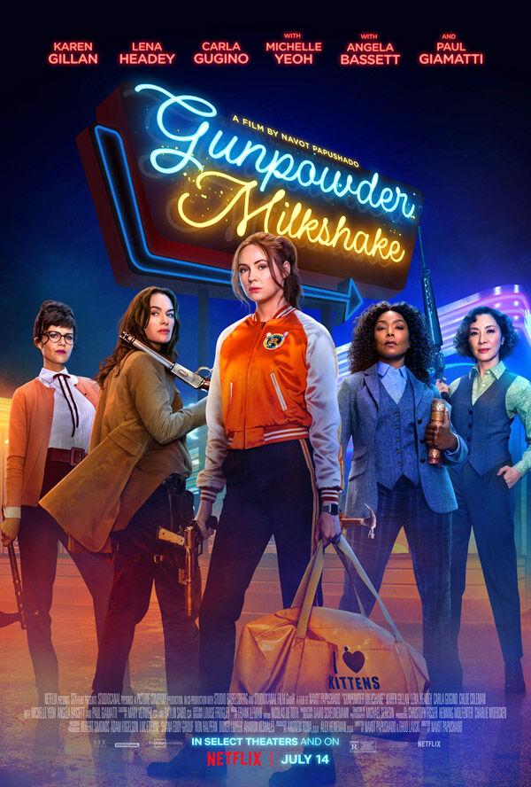 """Gunpowder Milkshake"" movie poster"