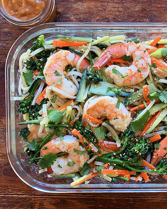 Vietnamese Shrimp and Broccolini Bowl