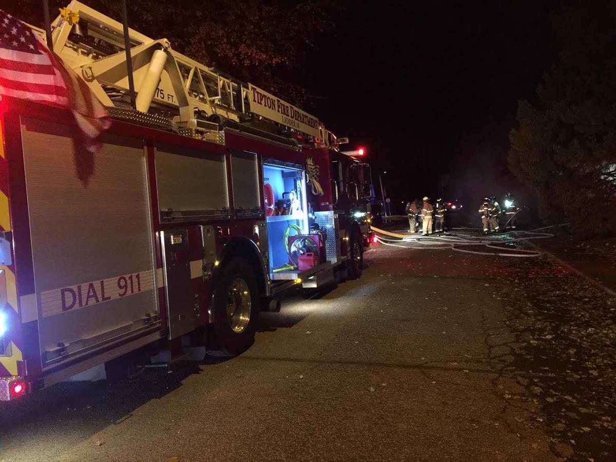 Tipton house fire