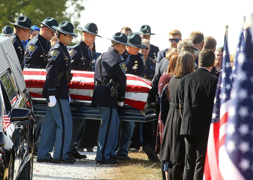'A great man': Fallen Trooper Peter Stephan honored during emotional funeral and burial