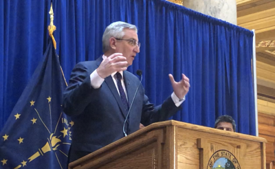 Holcomb announces economic measures in press conference