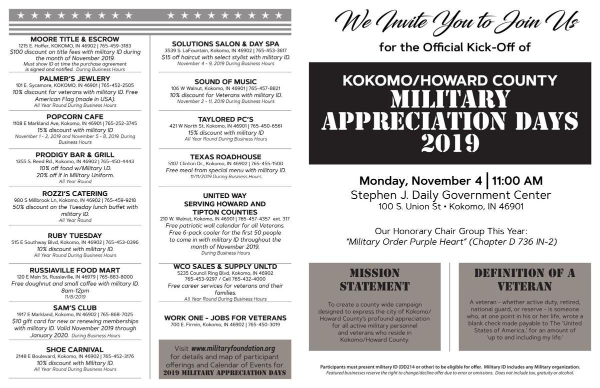 Military Appreciation Days flyer