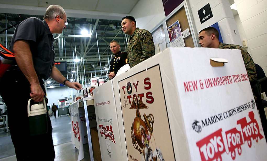 Toys For Tots Marine Corps : Marines set up toys for tots bins around area news