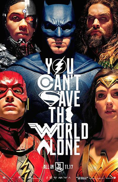 """""""Justice League"""" movie poster"""
