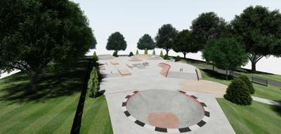 Foster Park skate park rendering