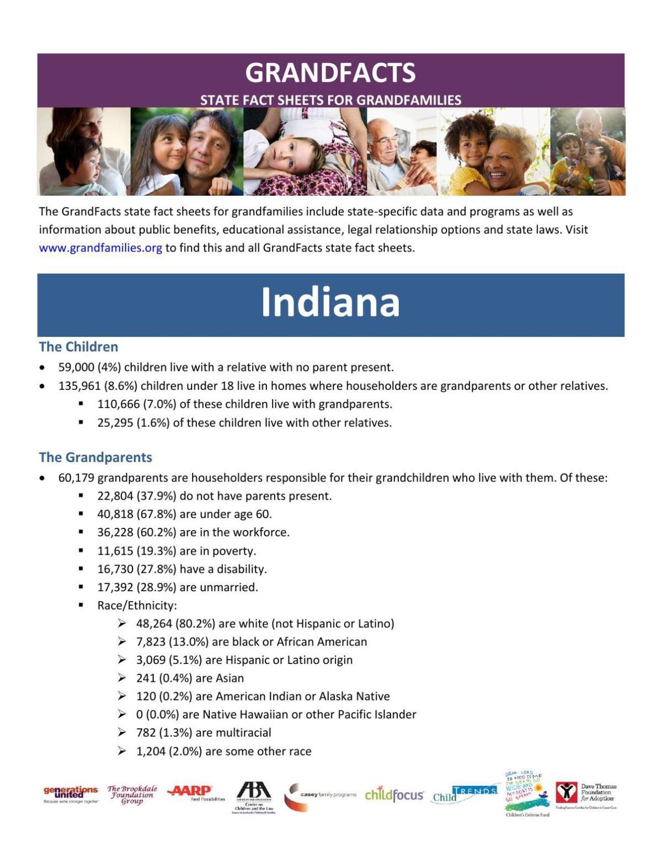 Indiana 'grandfamilies' stat sheet