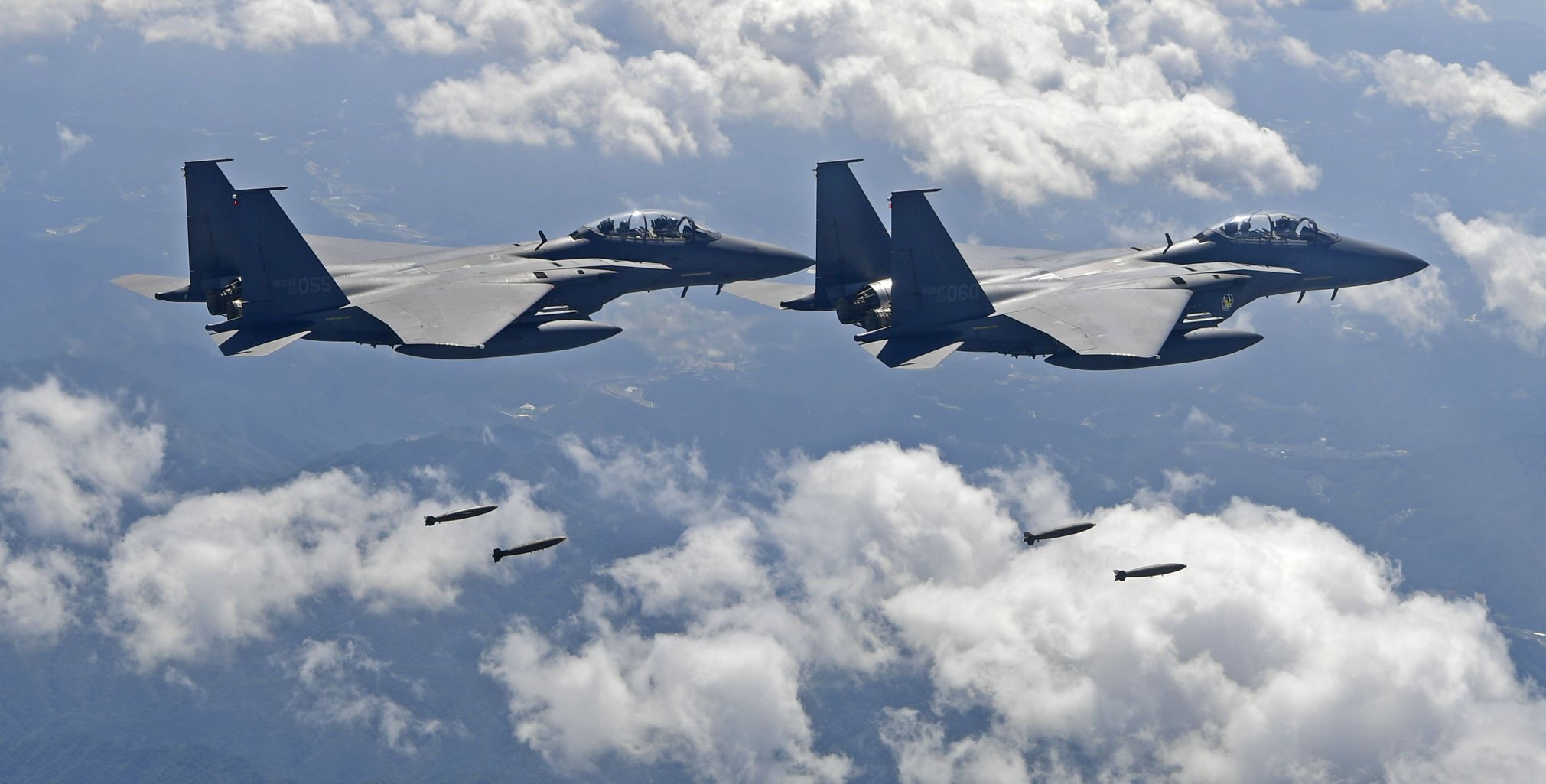 United States  flies bombers over Korean peninsula for drill