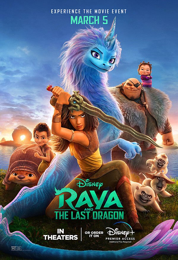 """""""Raya and the Last Dragon"""" movie poster"""
