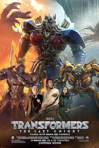 """Transformers: The Last Knight"" movie poster"