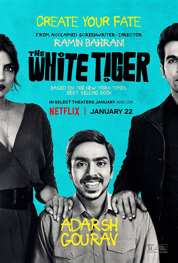 """White Tiger"" movie poster"