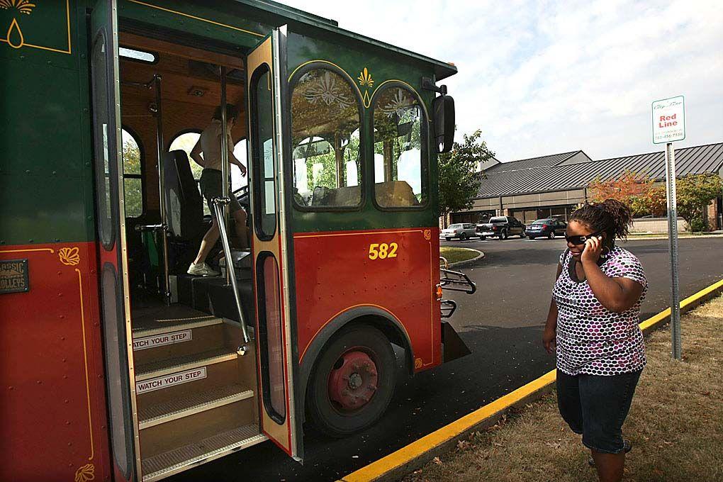 Trolley picks up