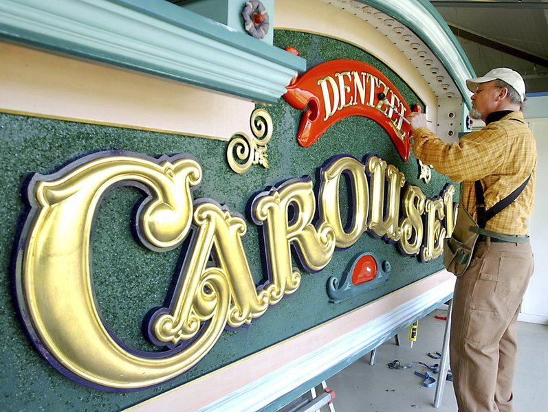 sign of remembrance locals reminisce about dentzel carousel sign maker who died friday in nj