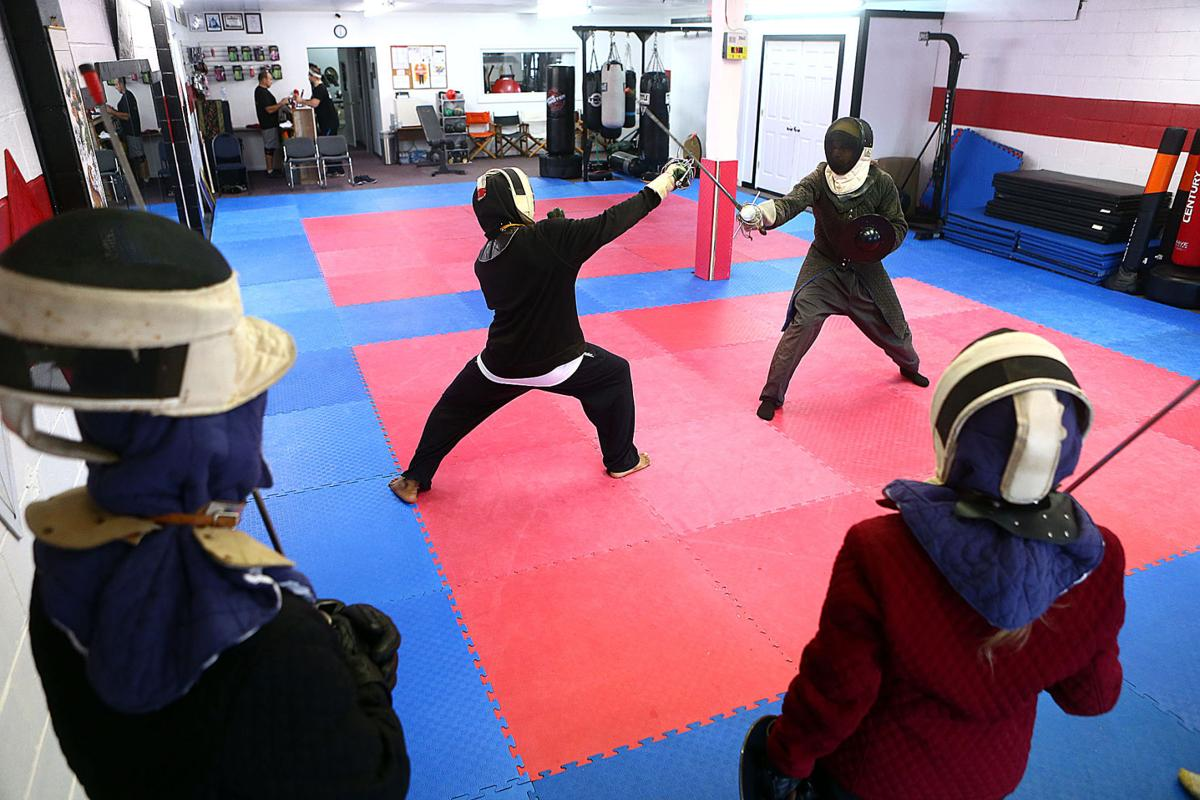 Students learn historic weapon fighting in Kokomo martial-arts
