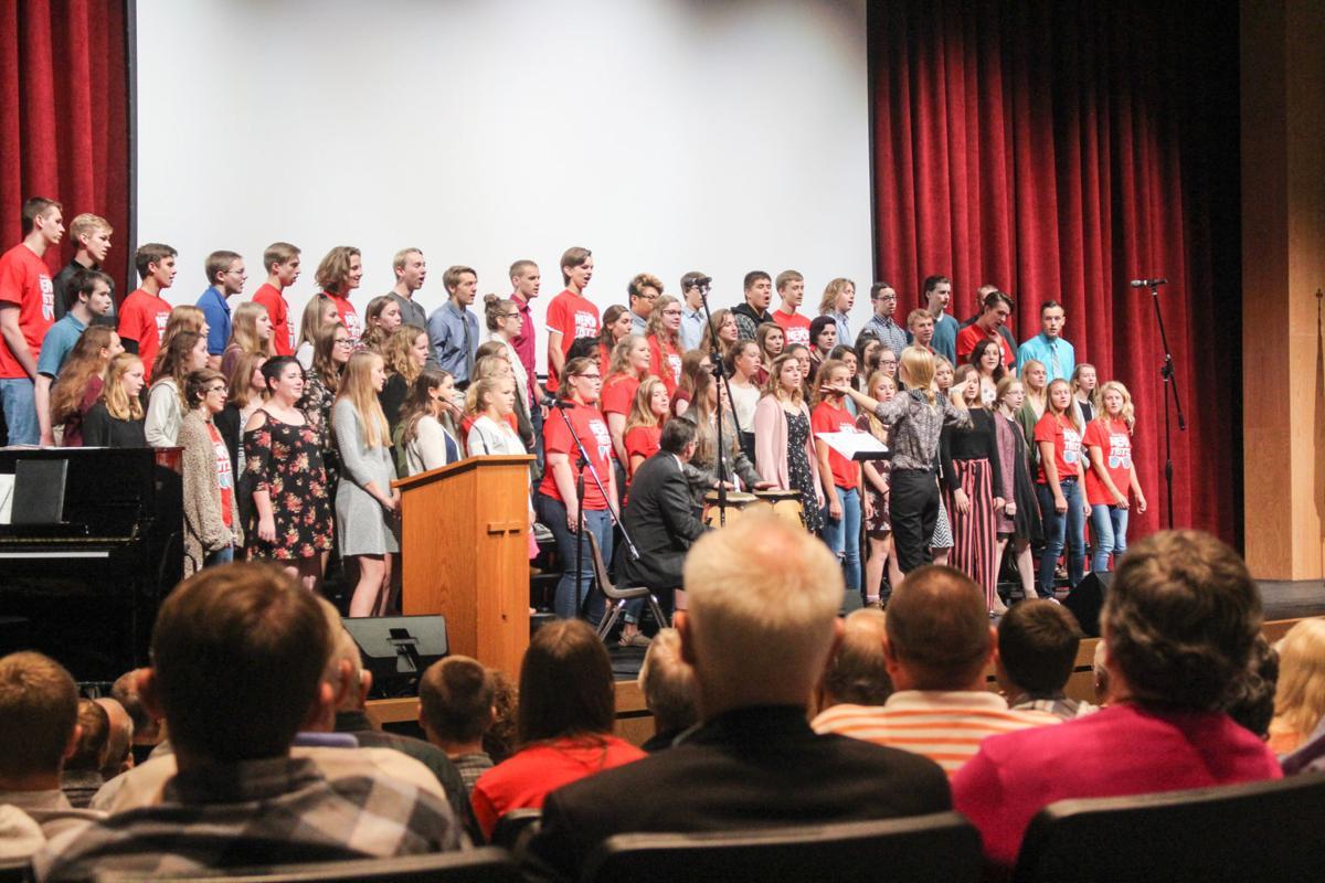 Luther High School choir