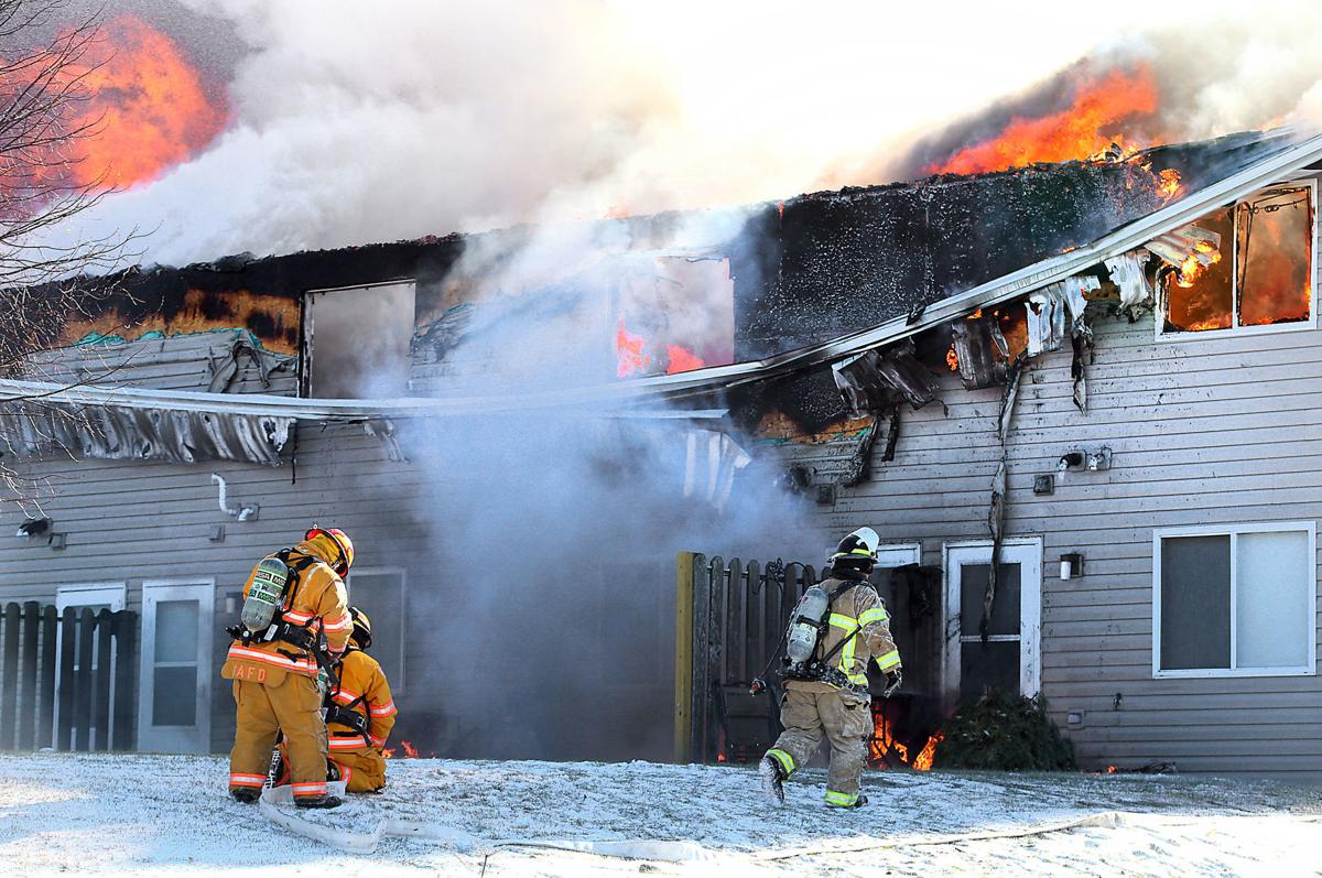 Holmen apartment fire