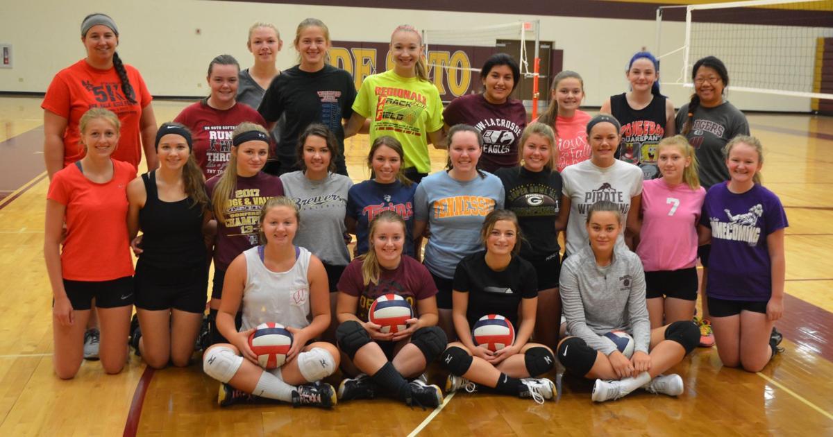 2017 De Soto High School volleyball team