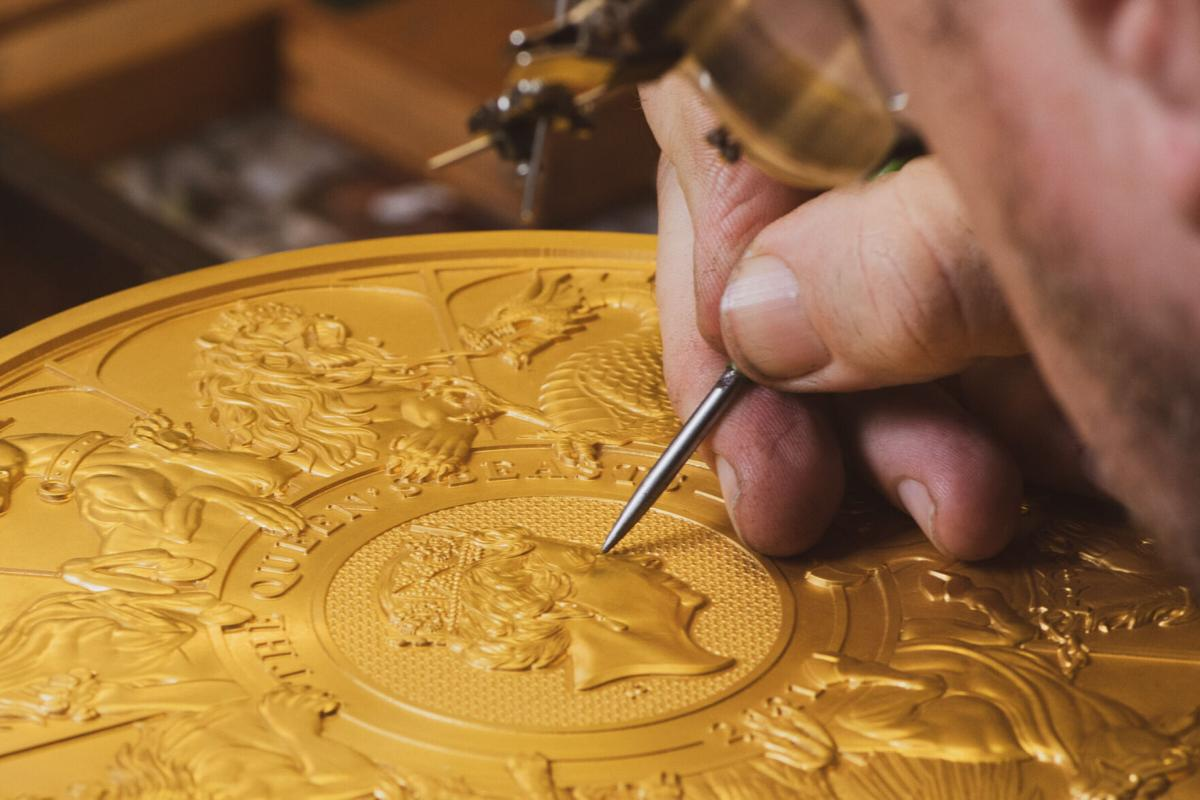 Giant gold coin weighs 22 pounds and took 400 hours to create