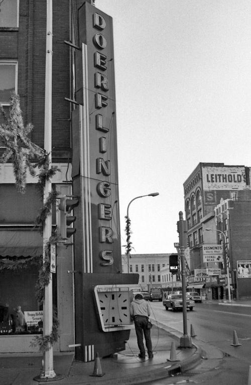 Hometown History: 1987 removal of the Doerflinger sign