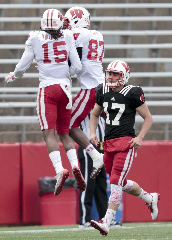 badgers football freshman quarterback austin kafentzis decides to