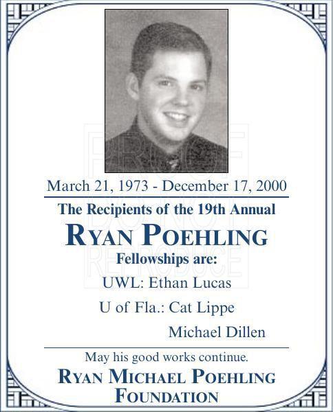 Ryan Poehling fellowships