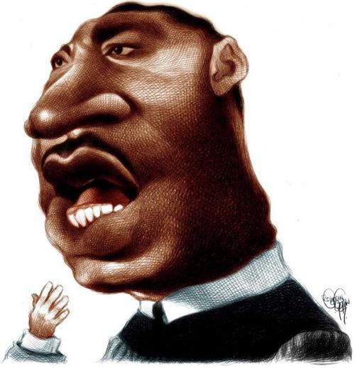 Martin Luther King caricature