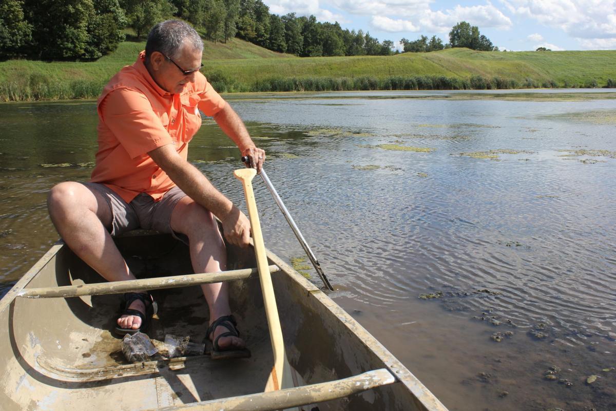 Taking samples on Moore Creek