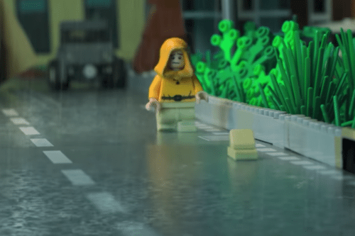 """This LEGO Recreation Of The """"It"""" Opening Scene Is Going Viral"""