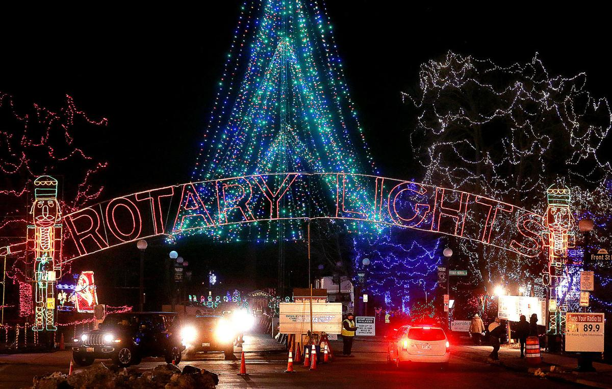 2019 Rotary Lights display in Riverside Park