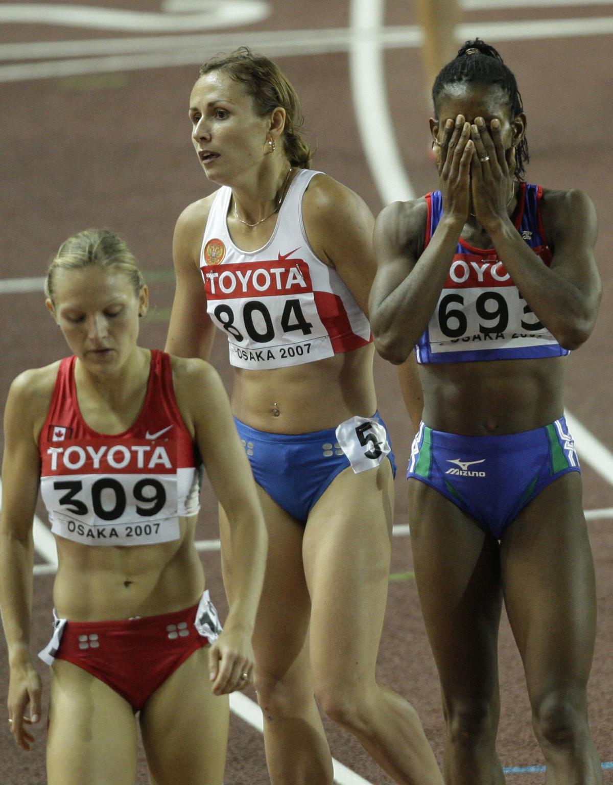Yuliya Fomenko, Hilary Stellingwerff, Agnes Samaria