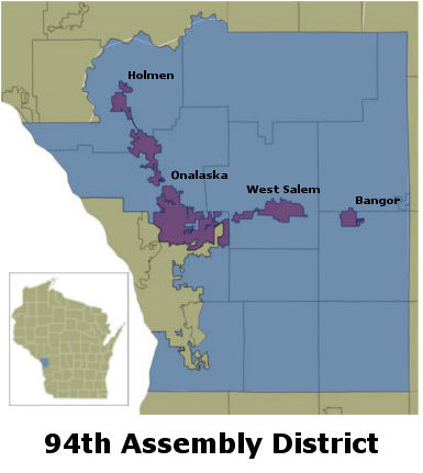 Wisconsin 94th Assembly District Map Lacrossetribune Com