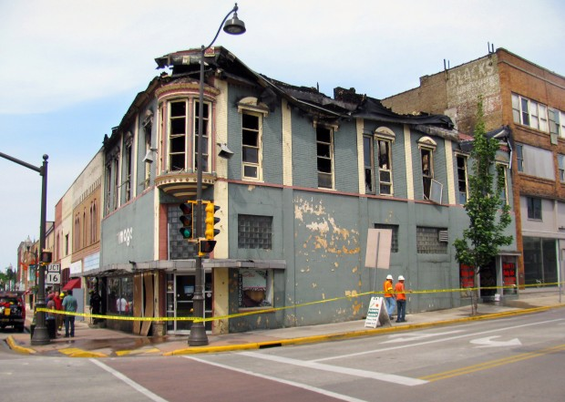 Fire damages buildings in downtown portage state and for Tattoo shops in la crosse wi