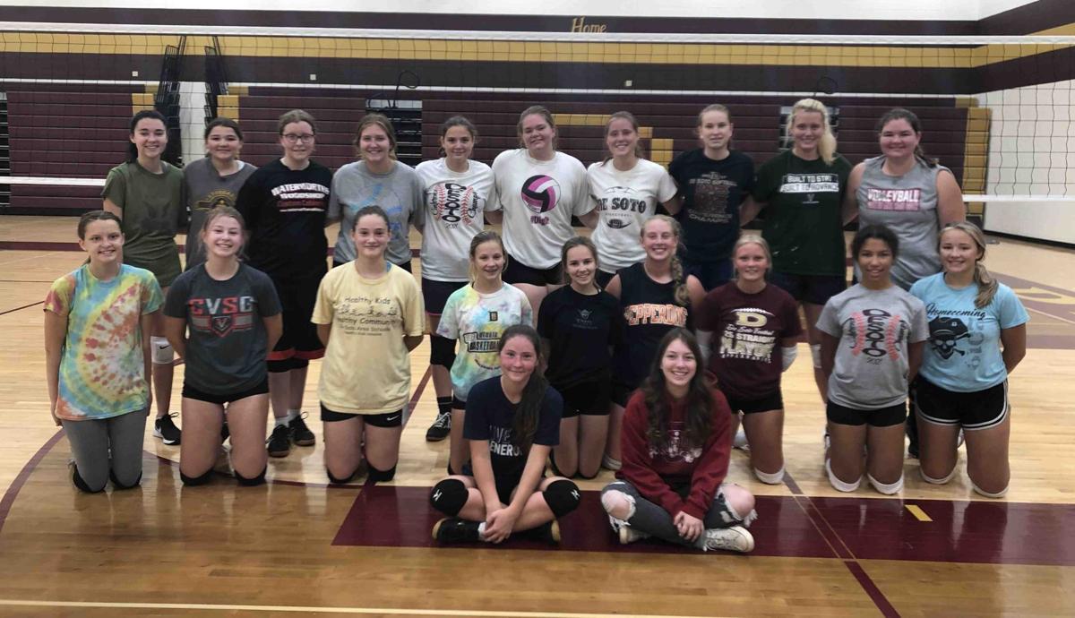 2021 De Soto High School volleyball team