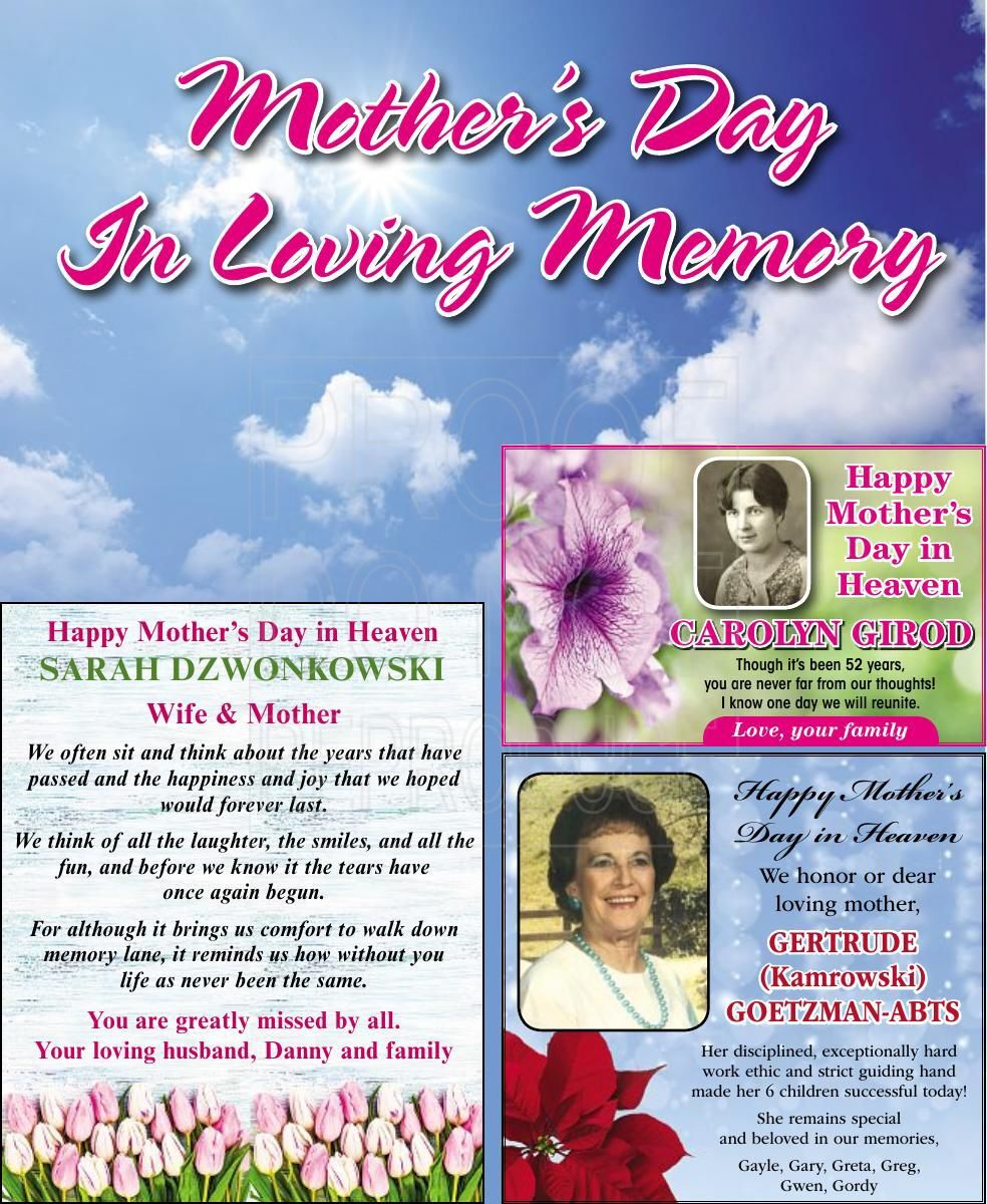 Mothers Day In Loving Memory